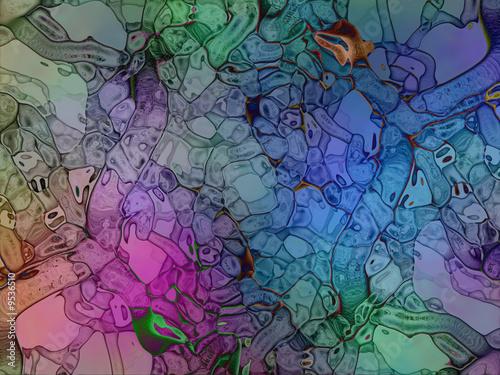 Fotografie, Obraz  colorful_distorted_alien_fantasy_abstract