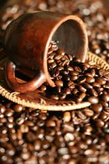 Fototapeta tasse,café,grains,grain,