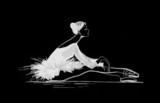 Sylwetka tancerz baletowy - 9569137