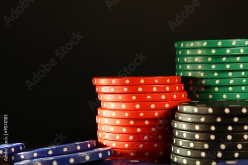 Fotografie, Obraz  Pokerchips