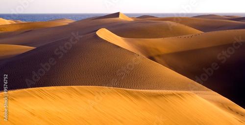 Foto  The great desert Dunas de Maspalomas in Gran Canary