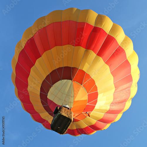 In de dag Ballon Ballon rouge et jaune