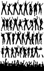 Huge collection of people dancing