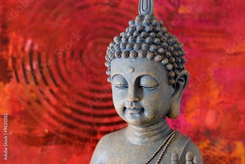Deurstickers Boeddha buddha statue