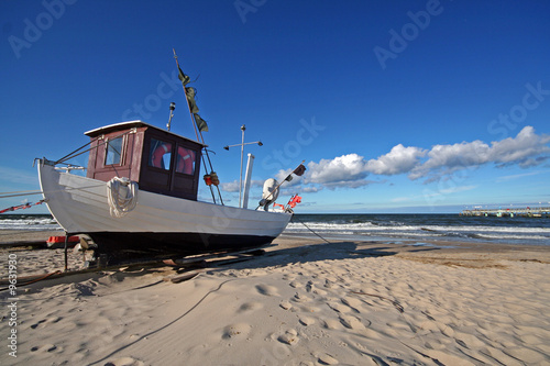 Obraz Usedom-Fischerboot in Koserow - fototapety do salonu