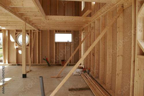 Fototapeta construction d'une maison en bois obraz