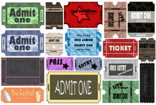 """Ticket """" Admit One """" Event Collection"""