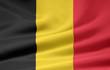canvas print picture - Belgische Flagge