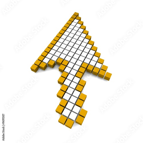 Foto op Aluminium Pixel Computer arrow cursor 3d rendered illustration
