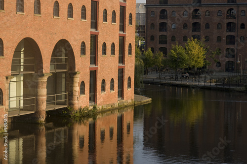 Fotografering The Industrial Revolution features in Castlefield, Manchester