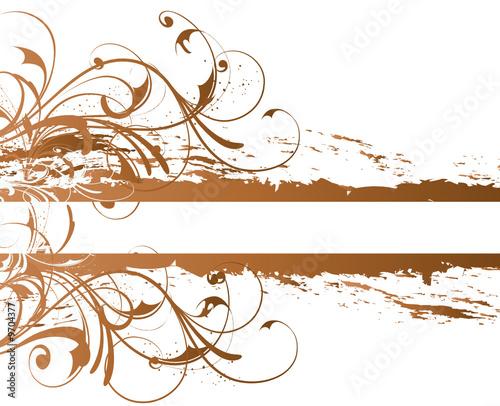 Amante banniere arabesque marron cuivre - Acheter ce vecteur libre de @DS_37