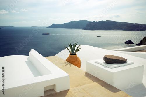 Papiers peints Santorini summer scene in santorini island, greece
