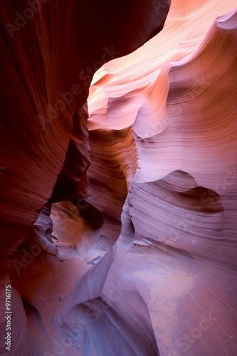 Foto op Canvas Baksteen Der Lower Antilope Canyon in Utah