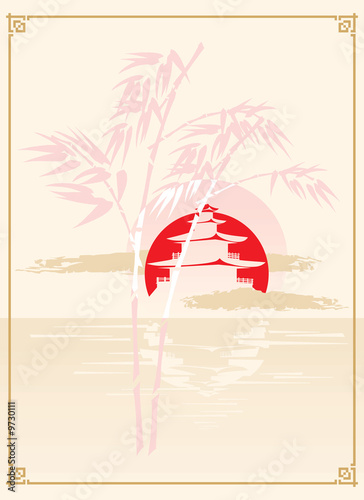 japonska-pagoda-bambus-i-slonce