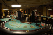 Modern And Beautiful Casino Interior, Poker Playing Tables
