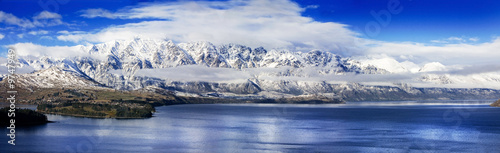 Fotobehang Nieuw Zeeland Panoramic of The Remarkables, a mountain range in New Zealand