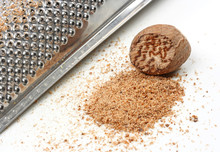 Grated Nutmeg Isolated On White Background