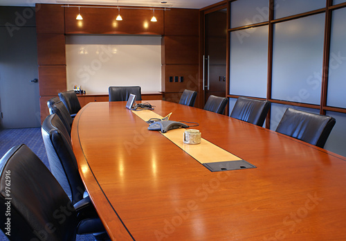 Fotografia, Obraz  Meeting room with chairs and a white board.