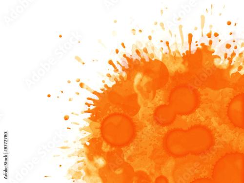 Valokuva  tache orange fond blanc