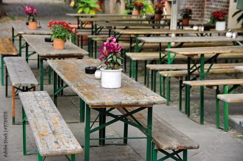 Terrasse De Café Avec Tables D école Berlin Allemagne