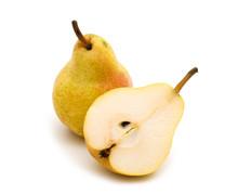 Fresh Slice Pear On White Back...