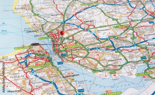 Liverpool Hotels Map on