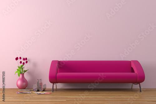Fényképezés  Modern interior with sofa