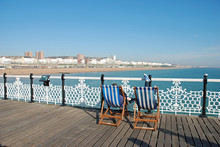 Deckchairs On  Brighton Pier
