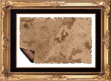 Map Of Europe Framed
