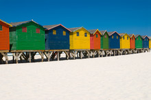 Colored Beach Huts Near Cape T...