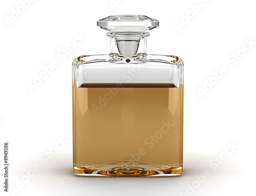 Fototapeta perfume bottle isolated on white background obraz