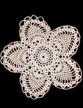 Vintage Crochet Doily Isolated On Black