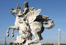 Man On Winged Horse  Eiffel To...