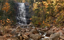 Arethusa Falls In New Hampshire's White Mountains.
