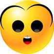 Leinwandbild Motiv vector clipart illustrations of emoticon Smiley face