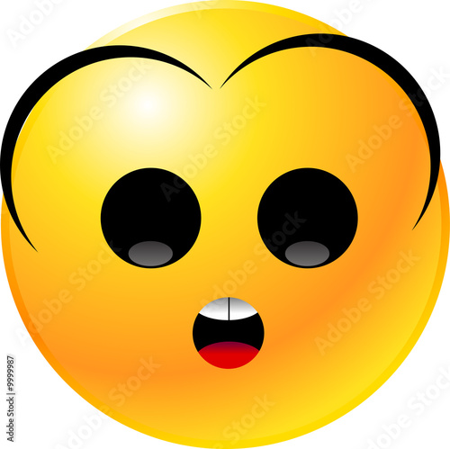 Fotografia, Obraz vector clipart illustrations of emoticon Smiley face