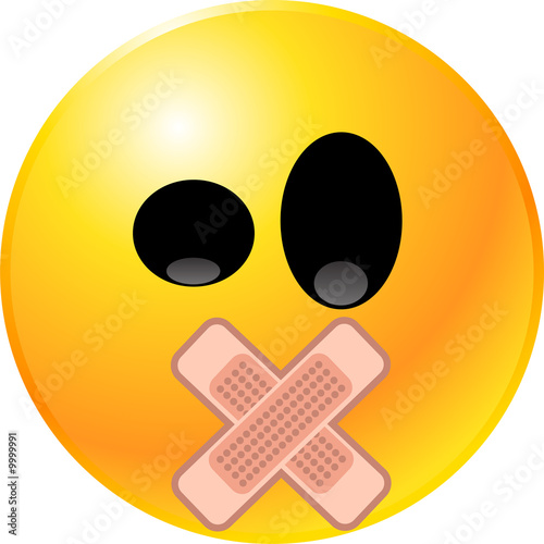 Obraz vector clipart illustrations of emoticon Smiley face - fototapety do salonu