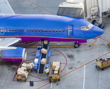 Aircraft Loading Freight