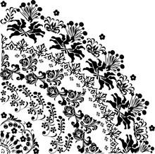 Quadrant Flower Silhouette