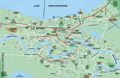 new orleans metro map New Orleans Metro Map Buy This Stock Illustration And Explore new orleans metro map