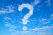 Leinwandbild Motiv Himmel mit Fragezeichen