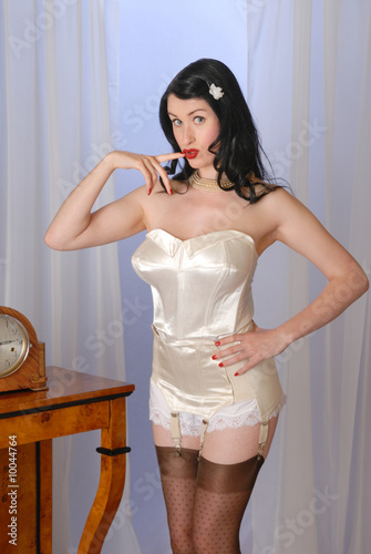 16626e85f Retro fifties pin-up attractive girl in vintage lingerie - Buy this ...