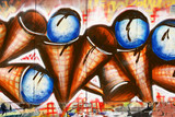 Urban graffiti close-up (ice cream)