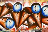 Urban graffiti close-up (ice cream)
