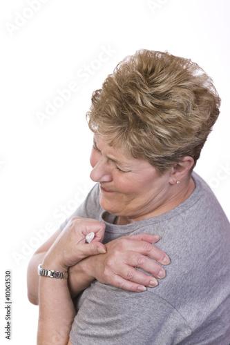 Fotografie, Obraz  woman with shoulder pain