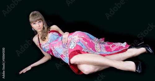 Photo  fashion woman portrait with a hispanic looking