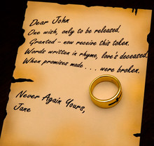 A Dear John Letter Written By ...