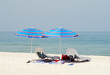 Empty beach chairs on a Florida beach