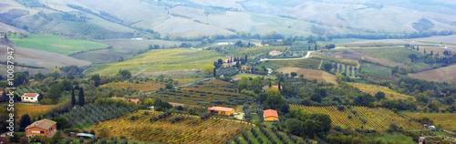 Foto auf Gartenposter Reisfelder Tuscany
