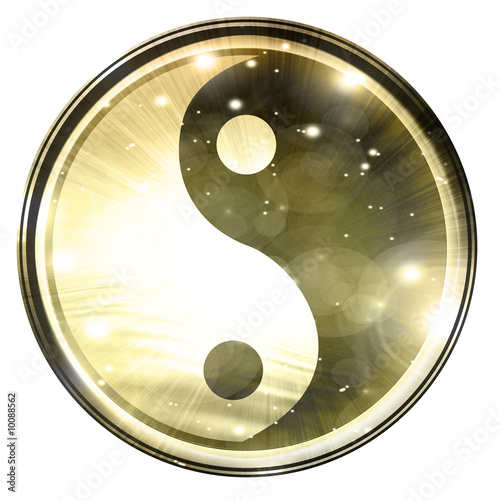 Fotografija  Yin Yang sign on a white background